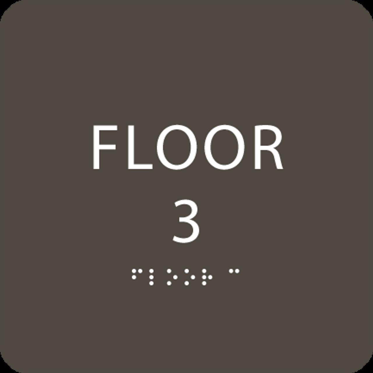 Olive Floor 3 Identification Sign