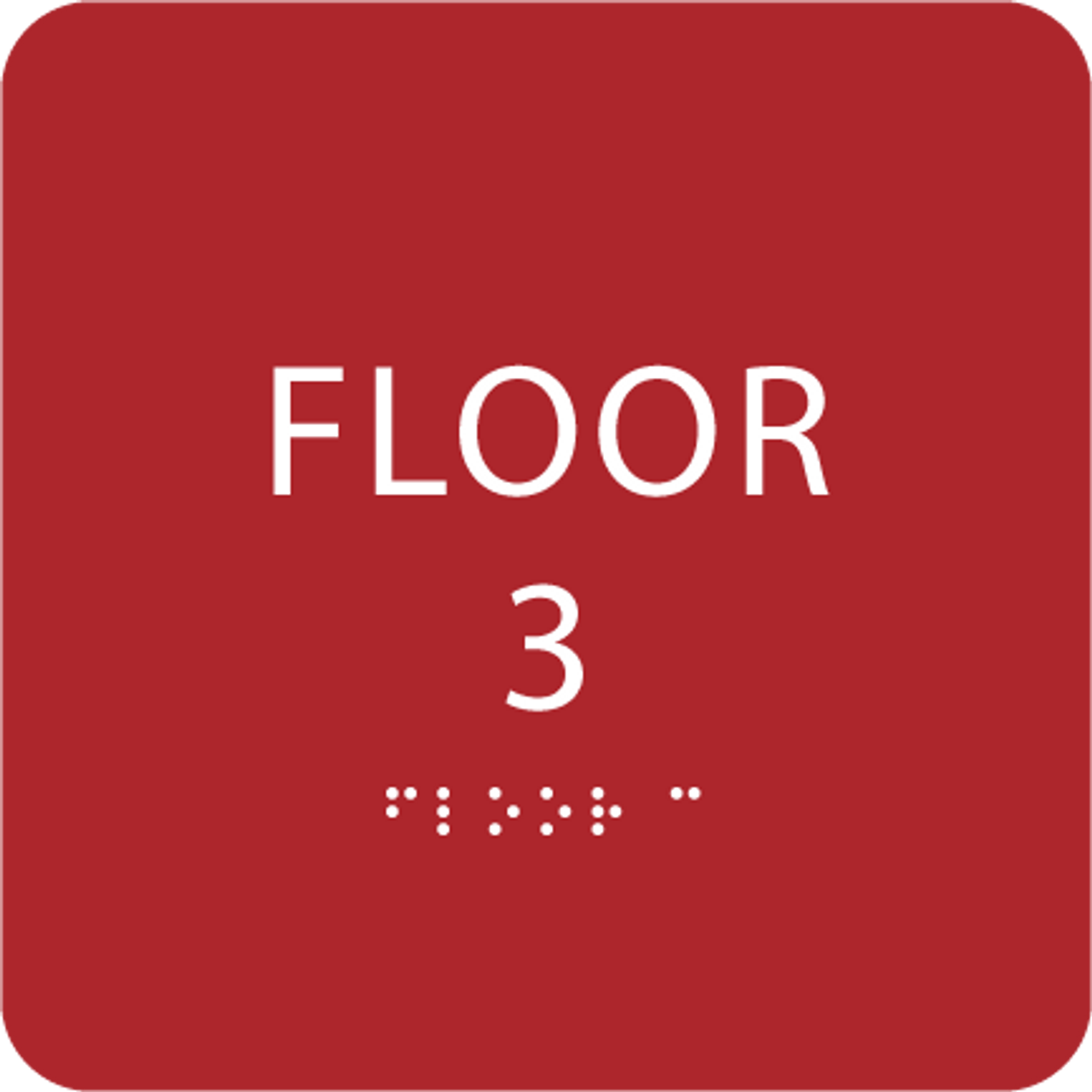 Red Floor 3 Identification Sign