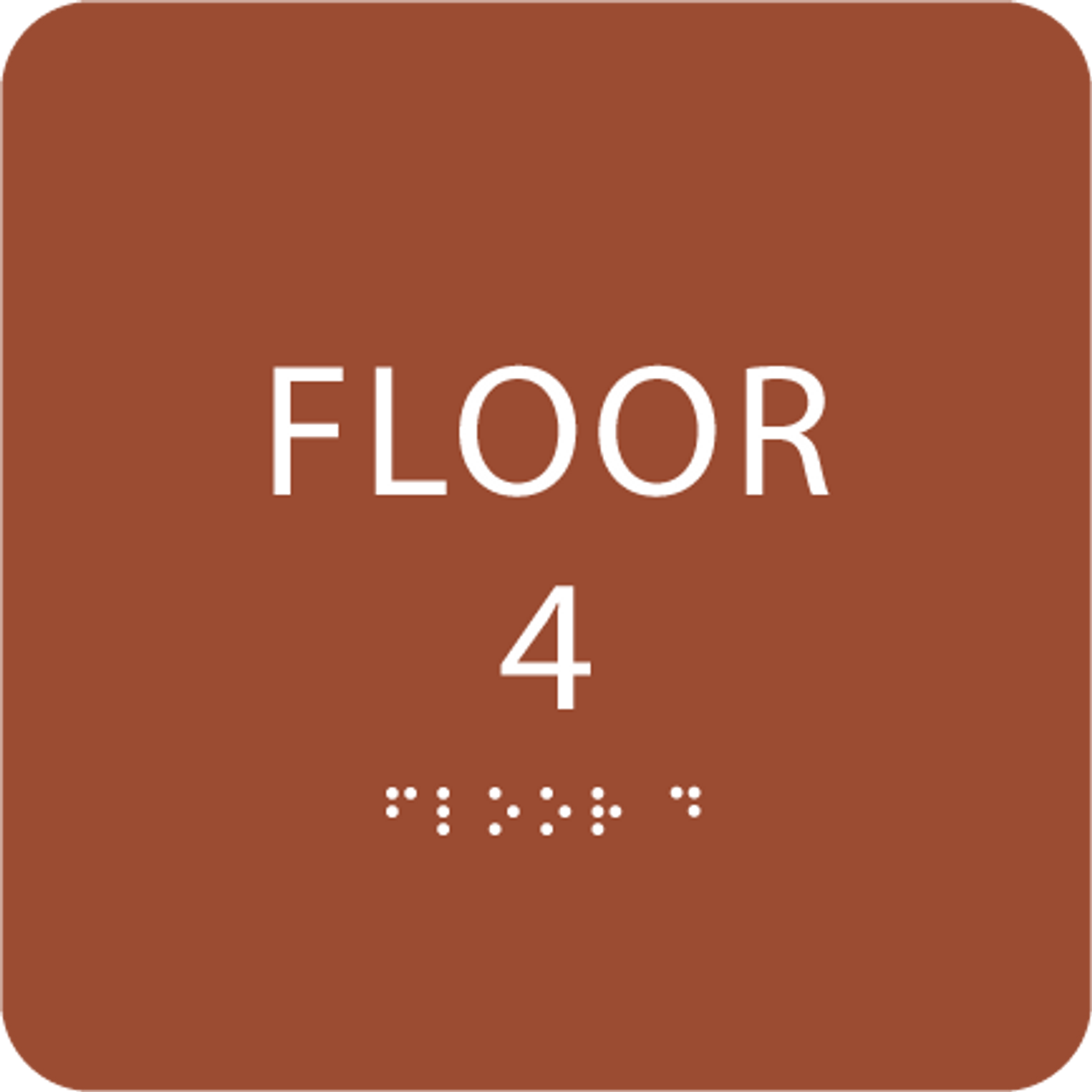 Orange Floor 4 Identification Sign