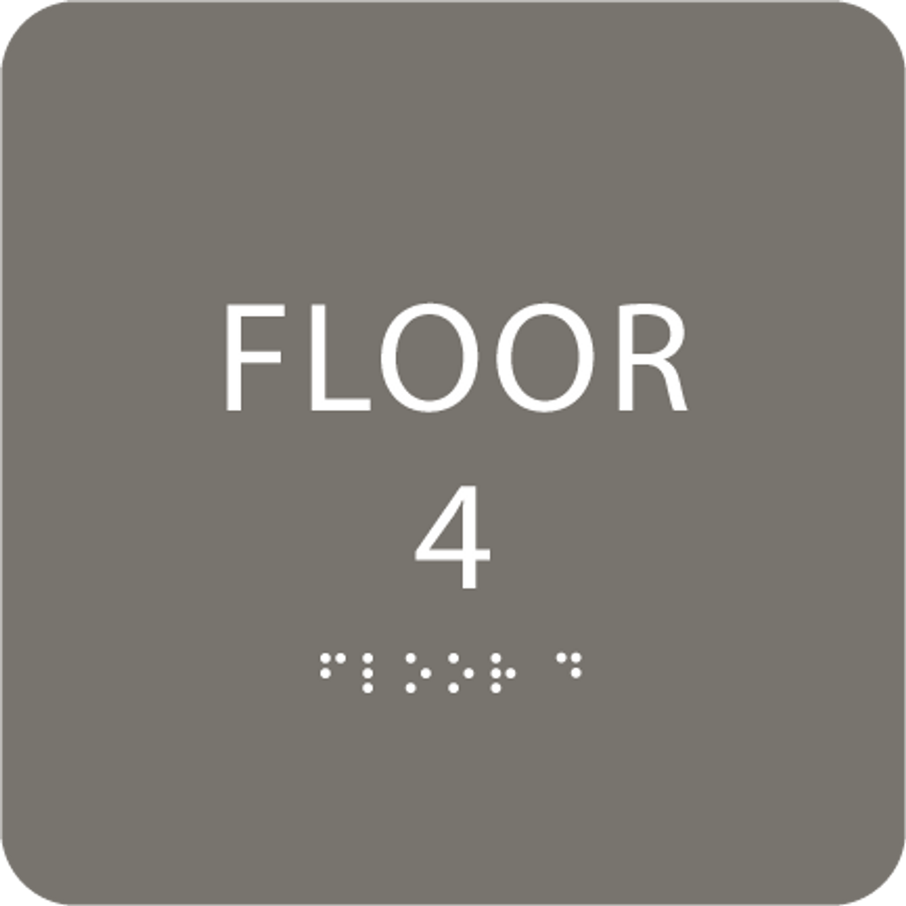 Dark Grey Floor 4 Identification Sign