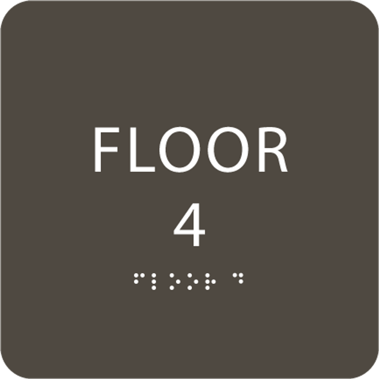 Olive Floor 4 Identification Sign