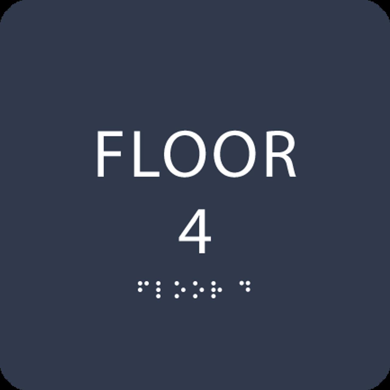 Navy Floor 4 Identification Sign
