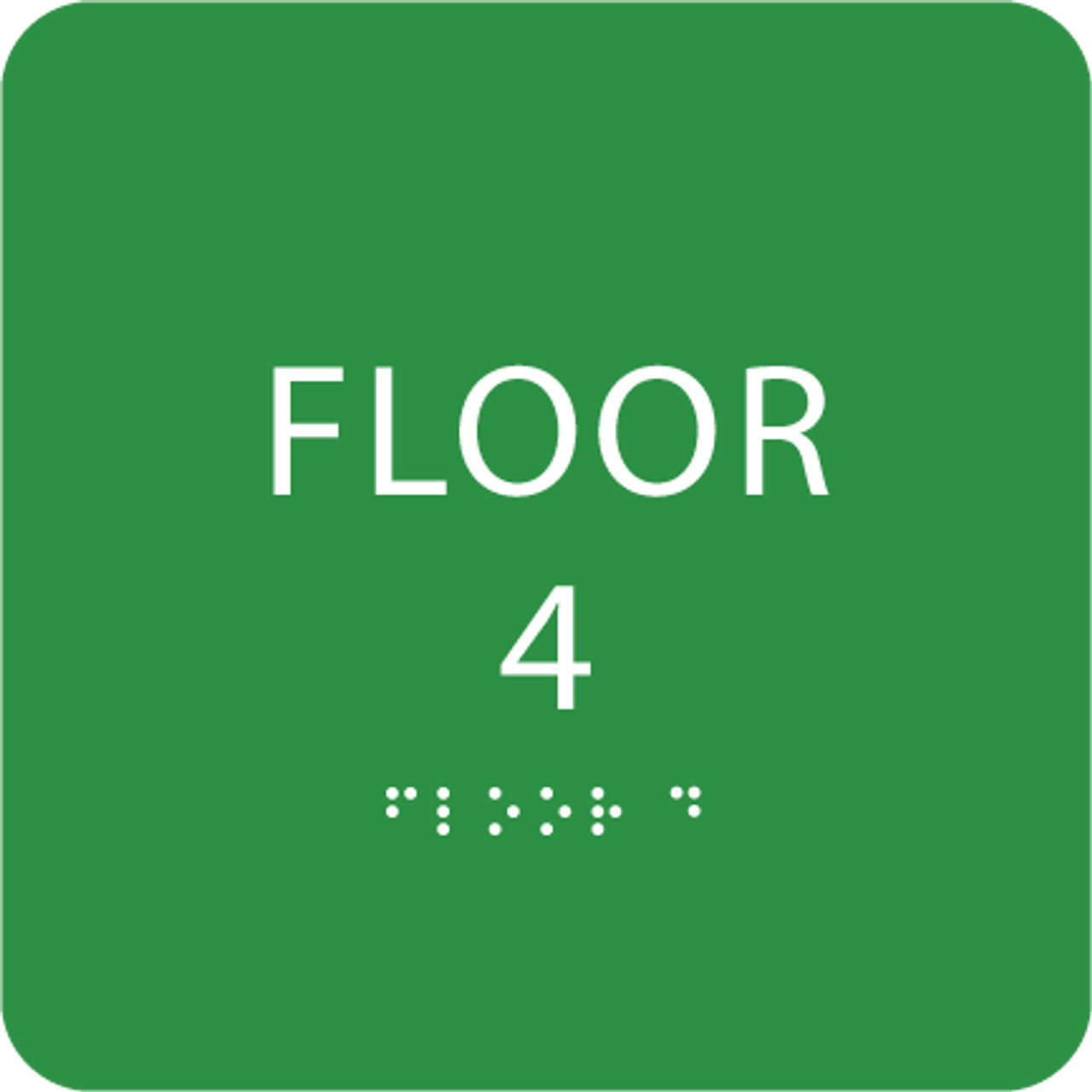 Green Floor 4 Level Sign