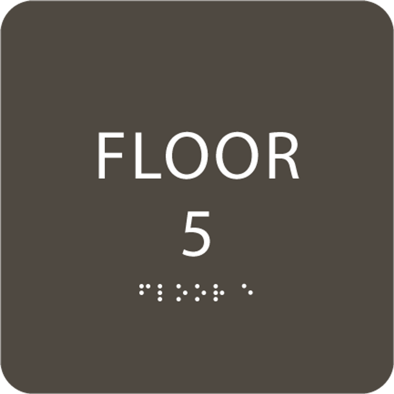Olive Floor 5 Level Identification Sign