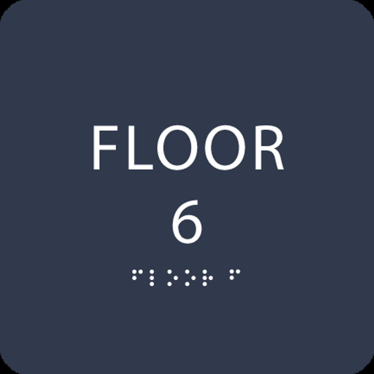 Navy Floor 6 Level Identification ADA Sign