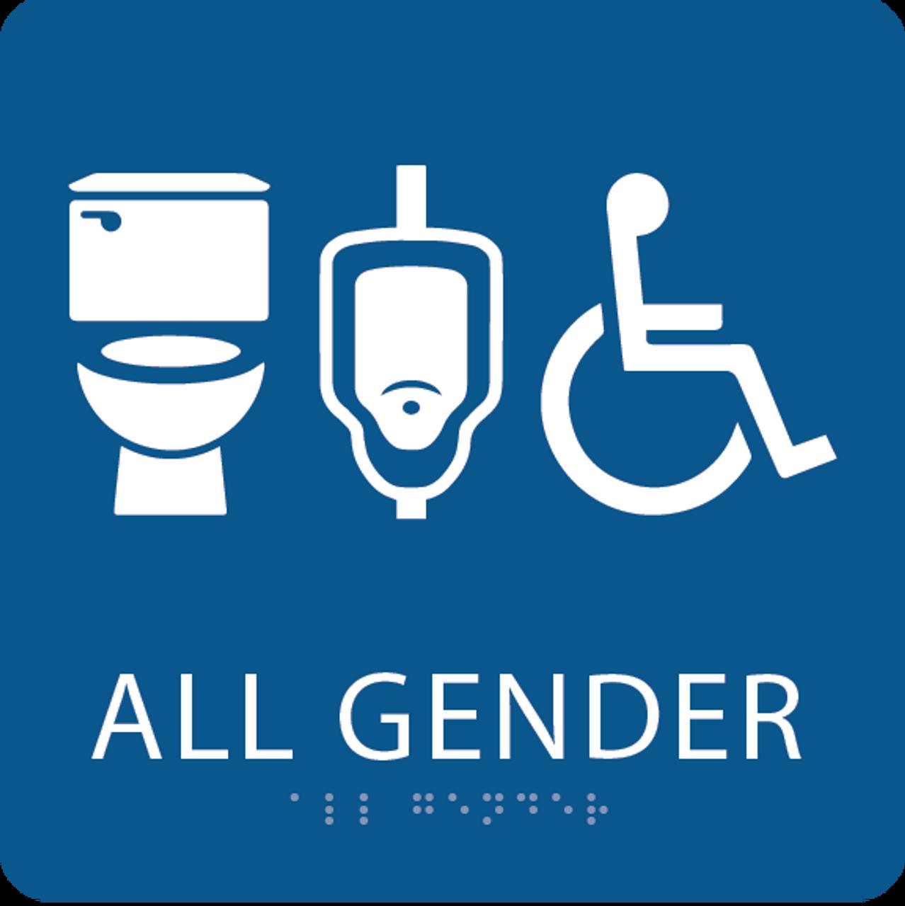 Royal All Gender Neutral Restroom Sign