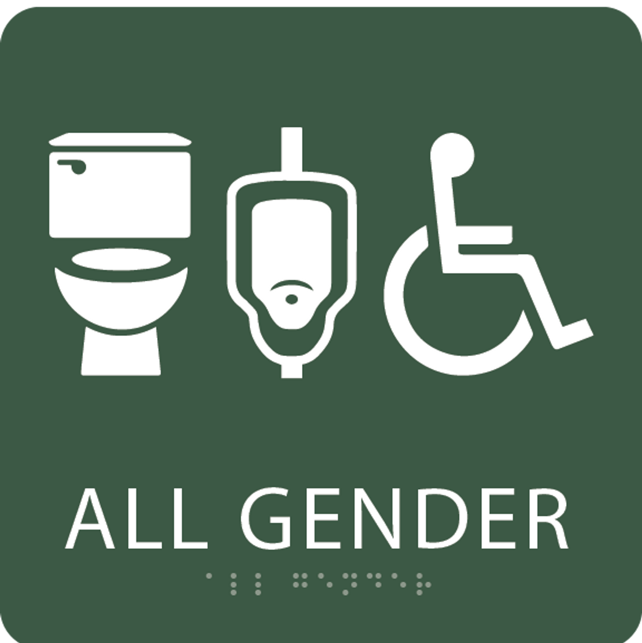 Spruce All Gender Neutral Restroom Sign