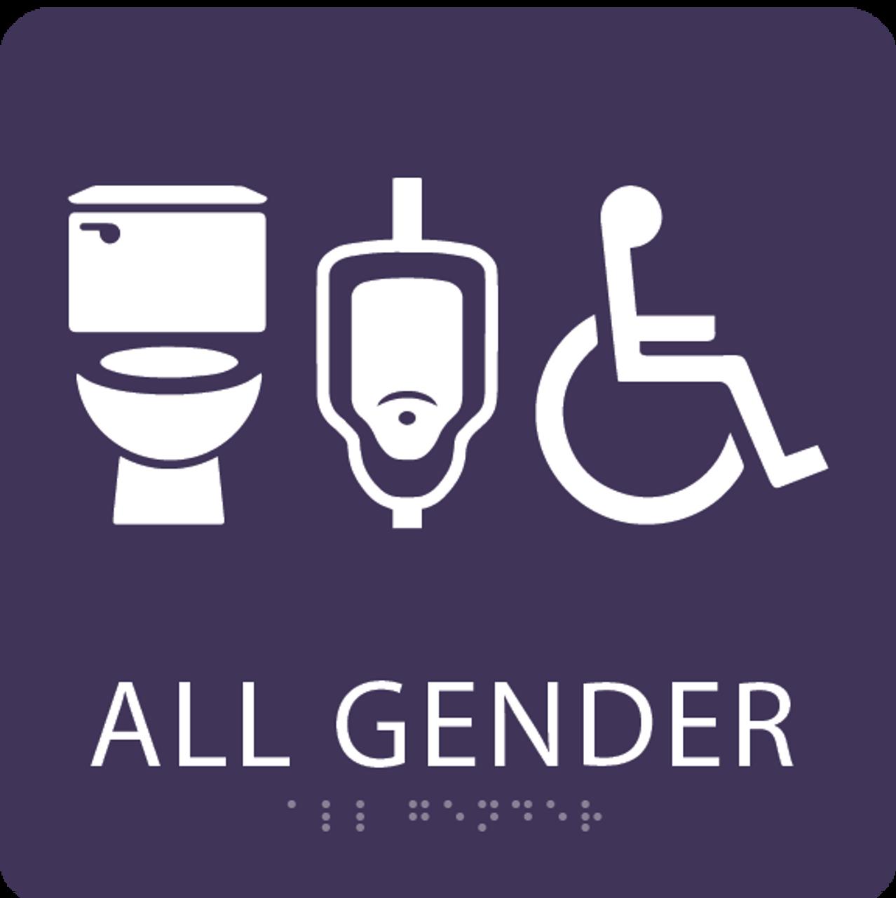 Purple All Gender Neutral Restroom Sign