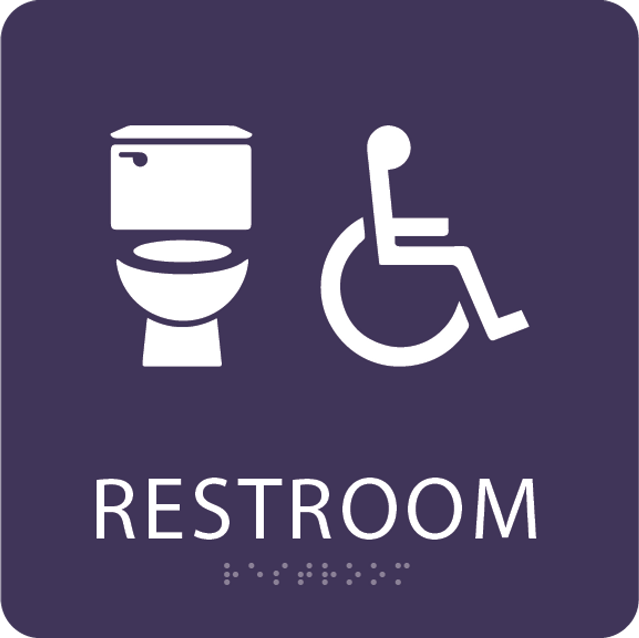 Purple Accessible Toilet Sign
