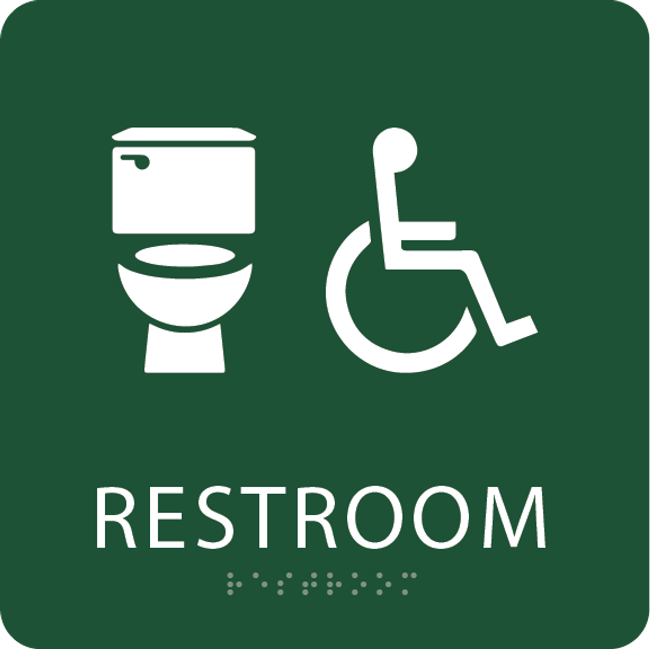 Green Accessible Toilet Sign