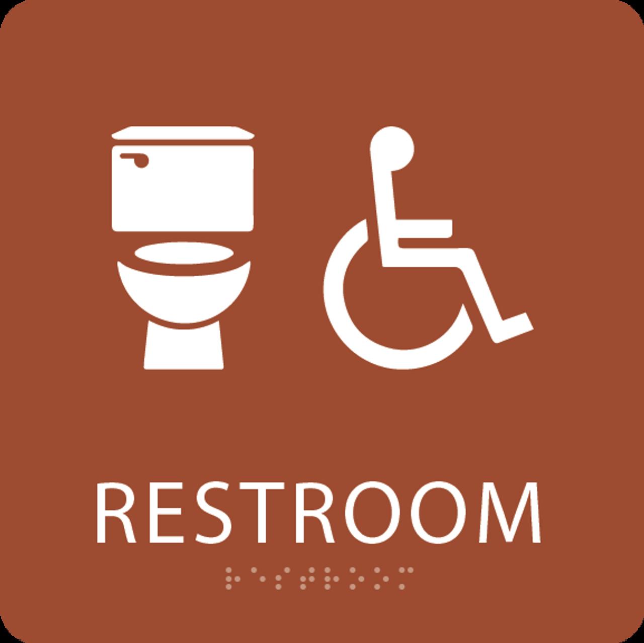 Orange Accessible Toilet Sign