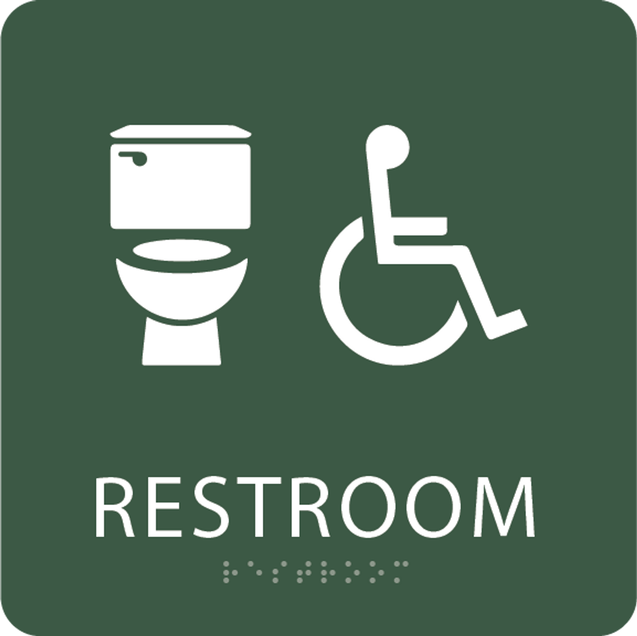 Spruce Accessible Toilet Sign