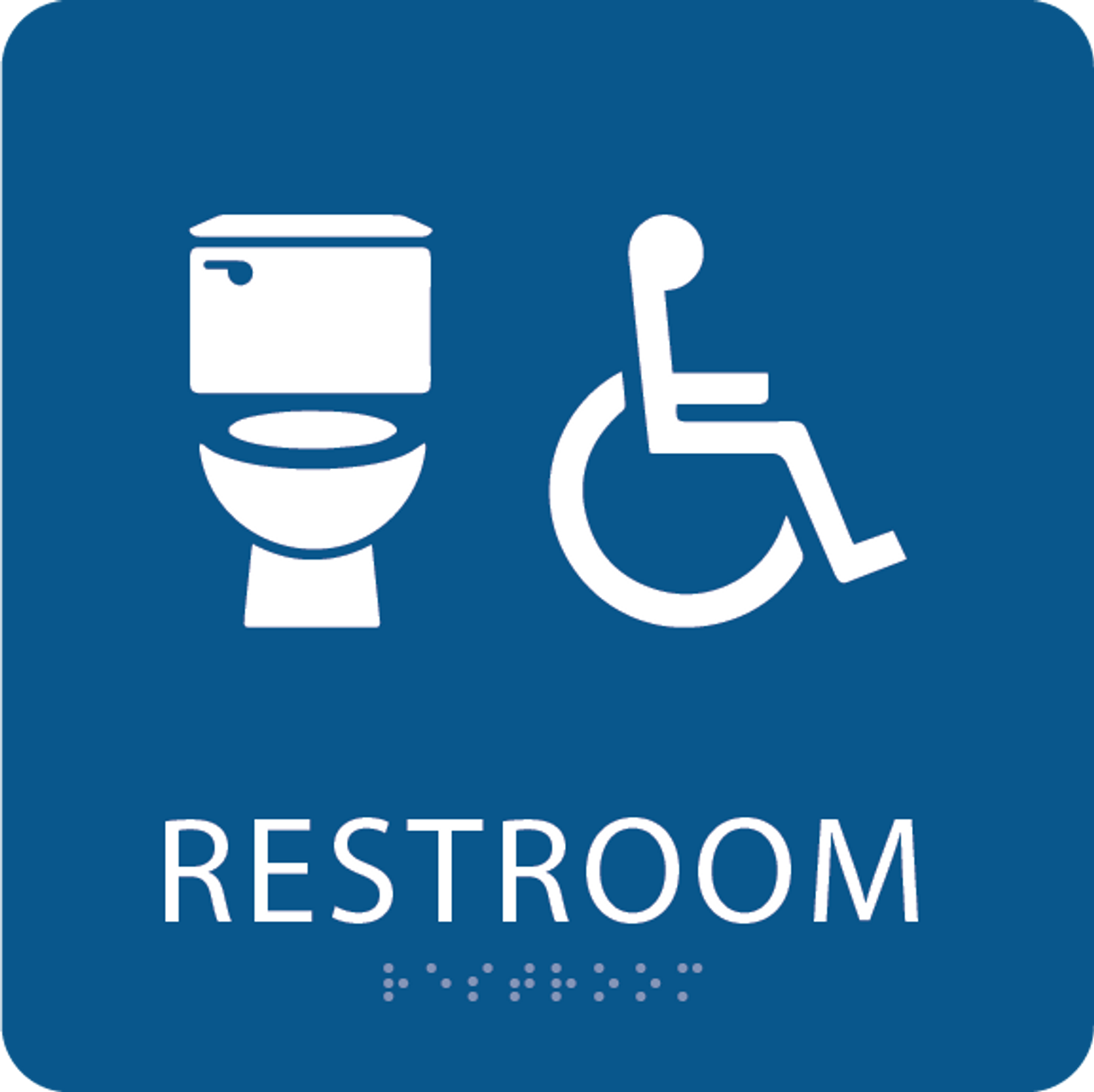 Royal Blue Accessible Toilet Sign