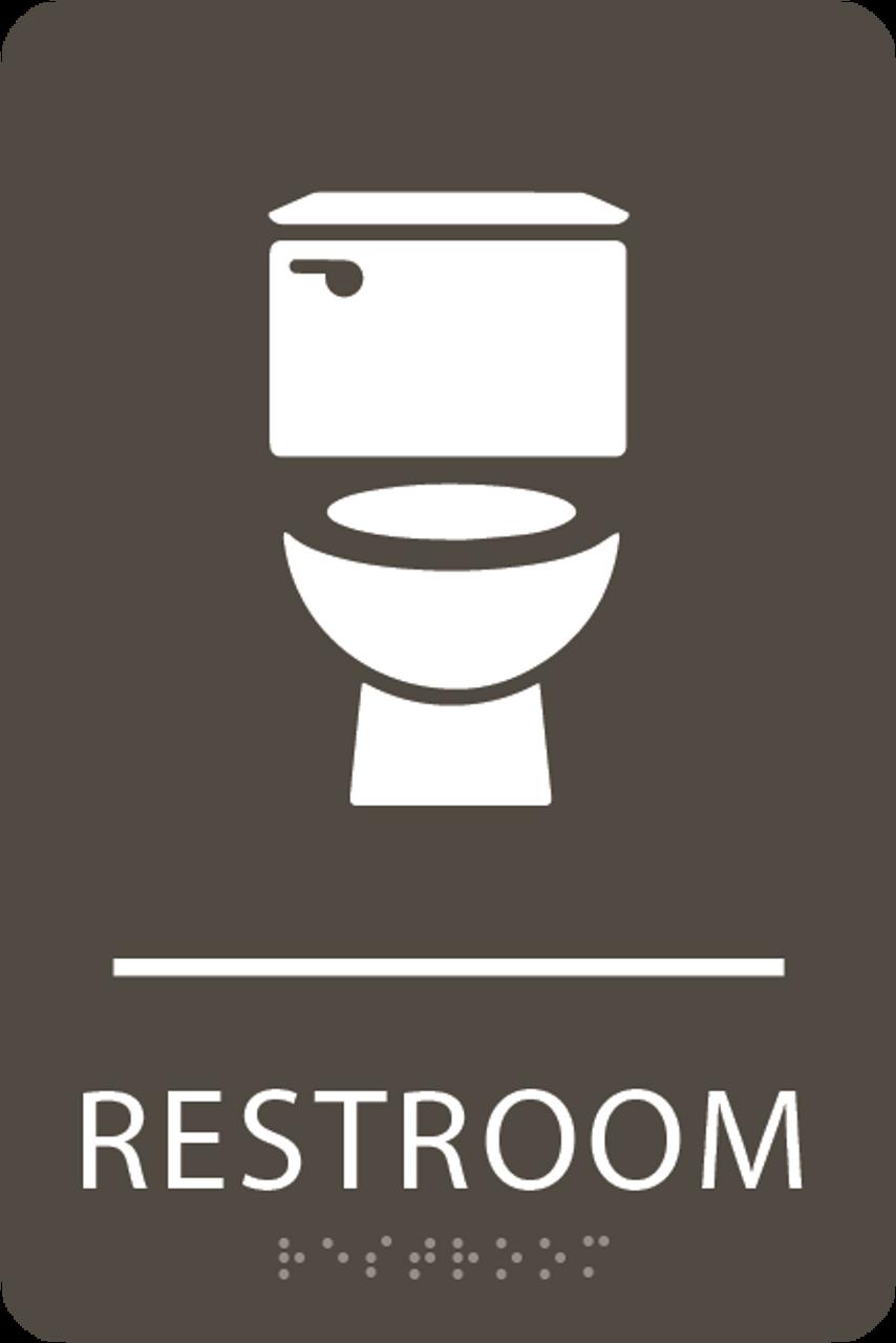 Olive Toilet Restroom Sign