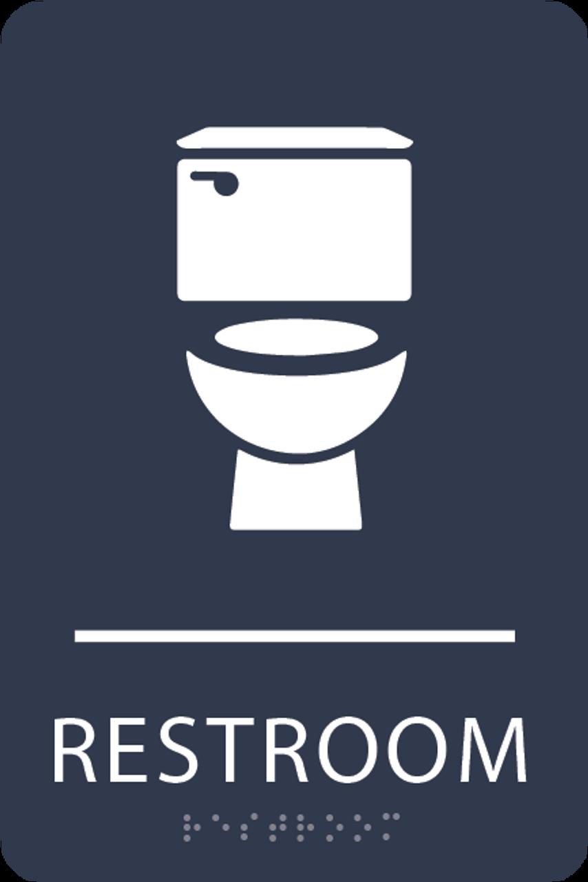 Navy Toilet Restroom Sign