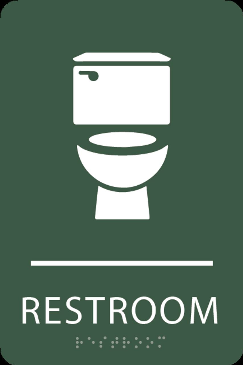 Spruce Toilet Restroom Sign