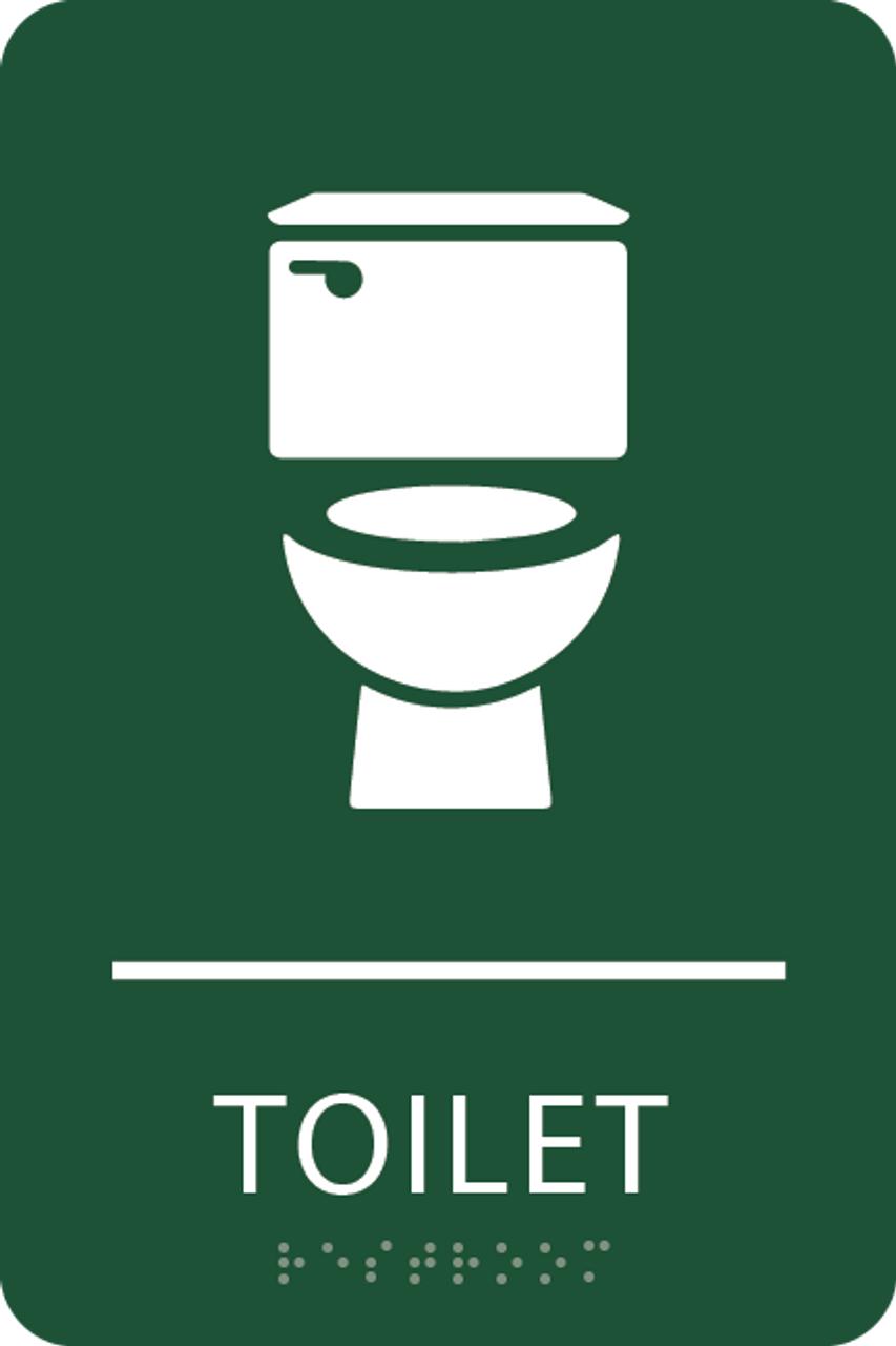 Green Toilet ADA Sign