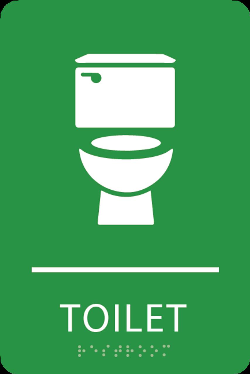 Light Green Toilet ADA Sign