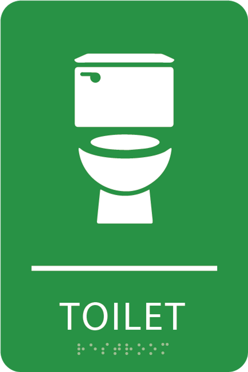 Light Green Toilet ADA Sign