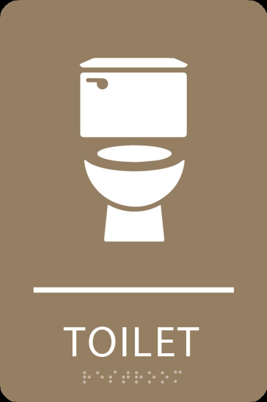 Light Brown Toilet ADA Sign