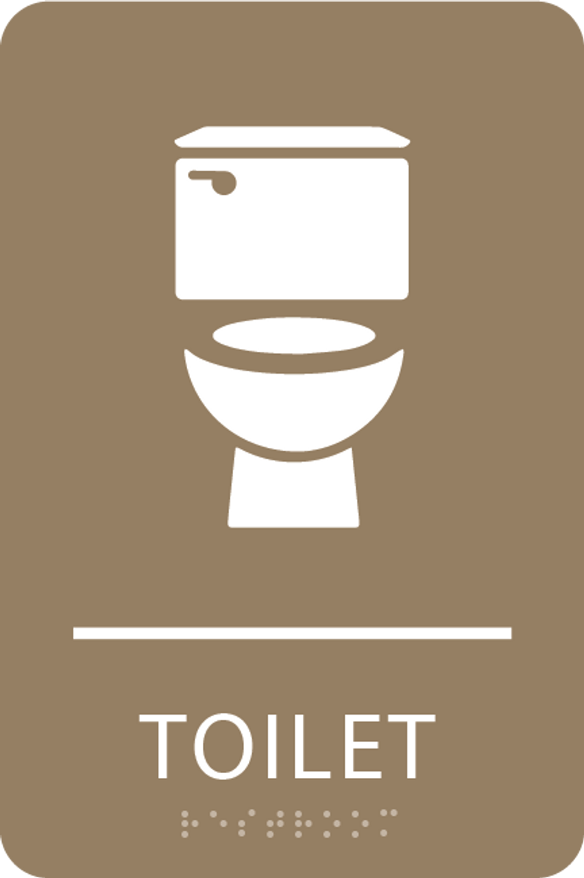 Light Brown Toilet ADA Sign