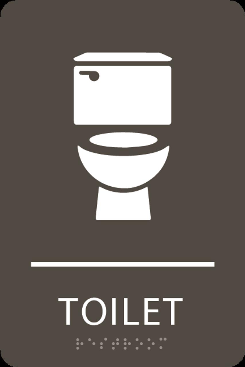 Olive Toilet ADA Sign