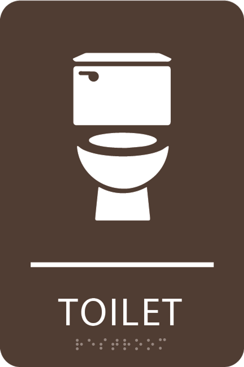 Dark Brown Toilet ADA Sign