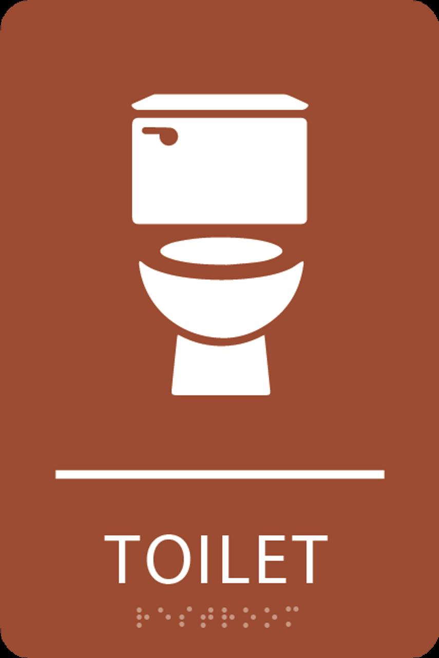 Orange Toilet ADA Sign
