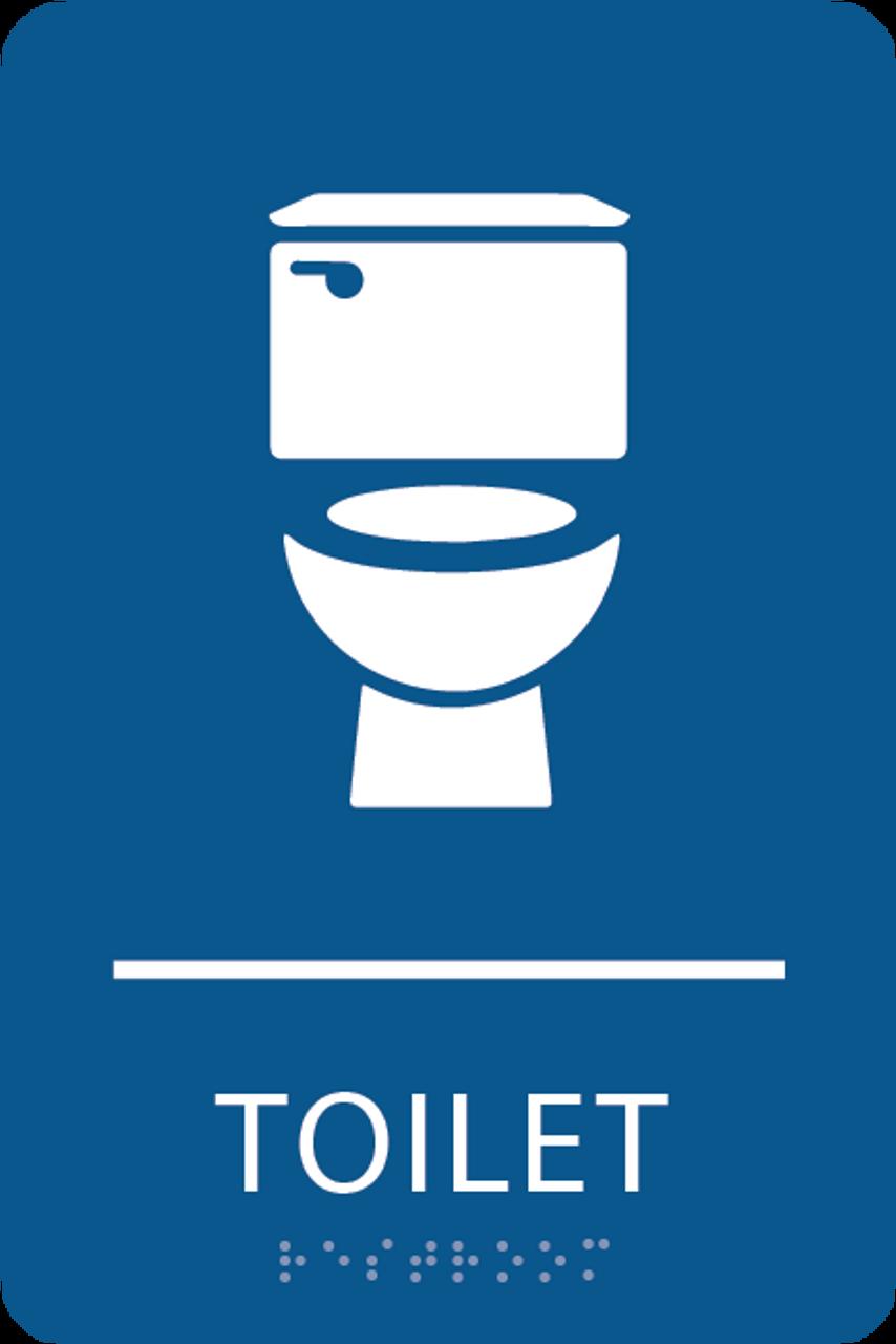 Blue Toilet ADA Sign