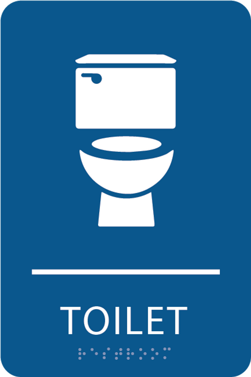 Blue Toilet ADA Sign