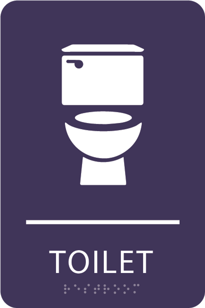 Purple Toilet ADA Sign