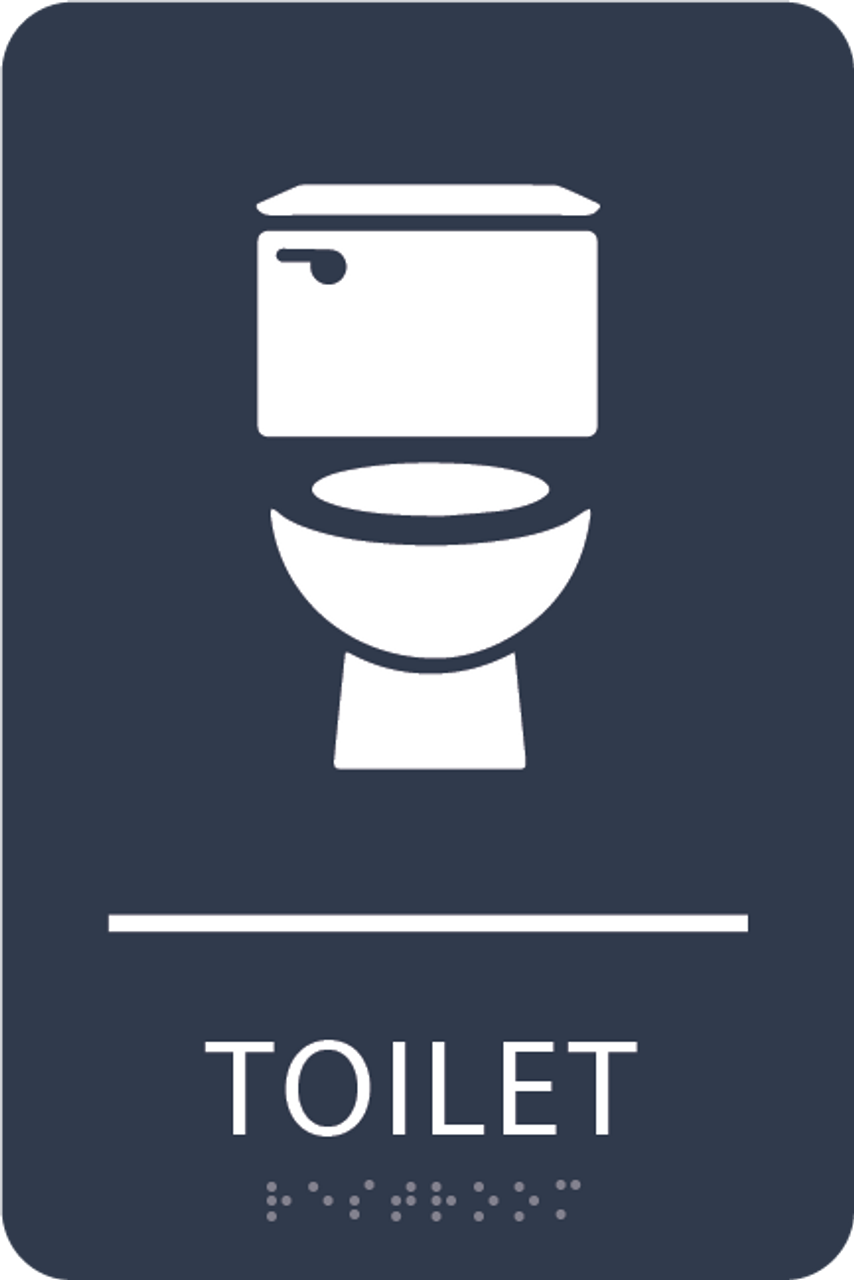 Navy Toilet ADA Sign