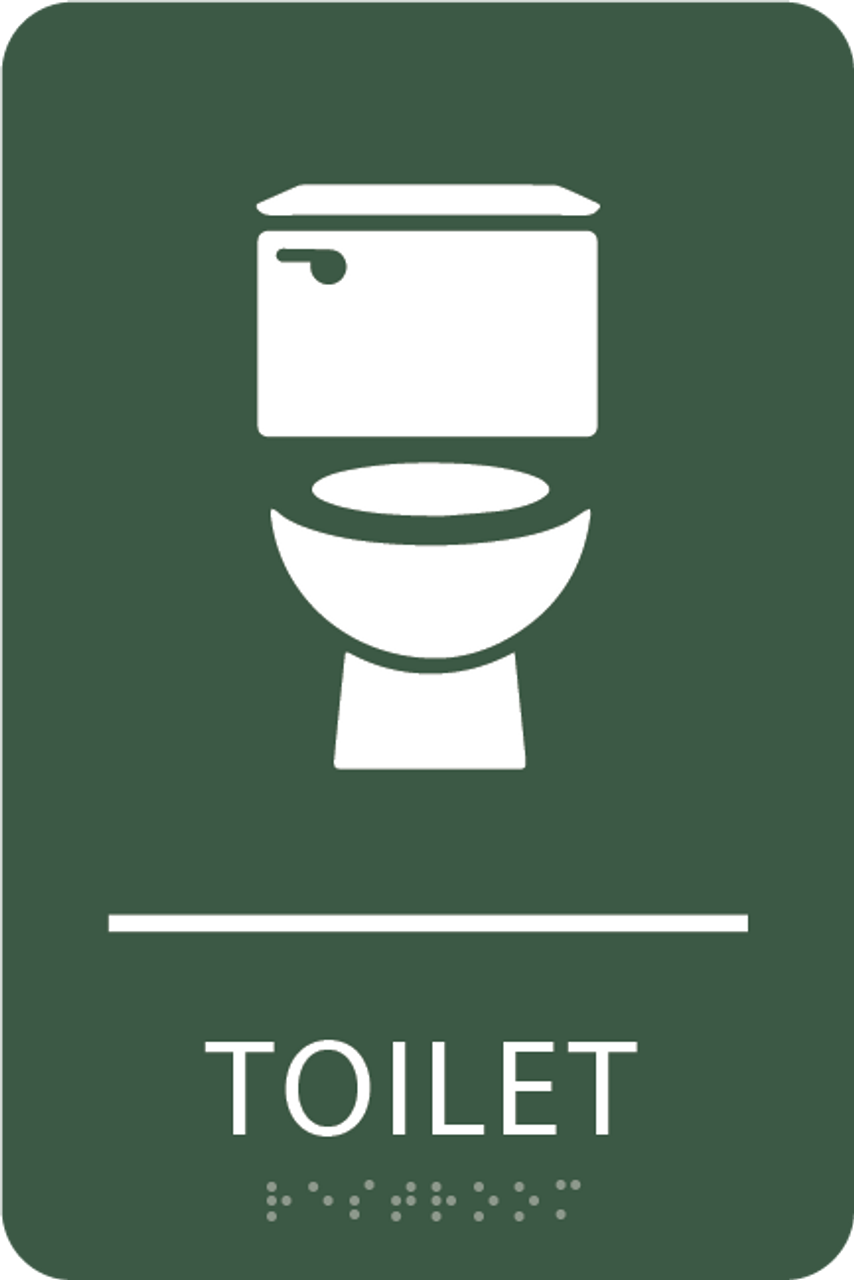 Spruce Toilet ADA Sign