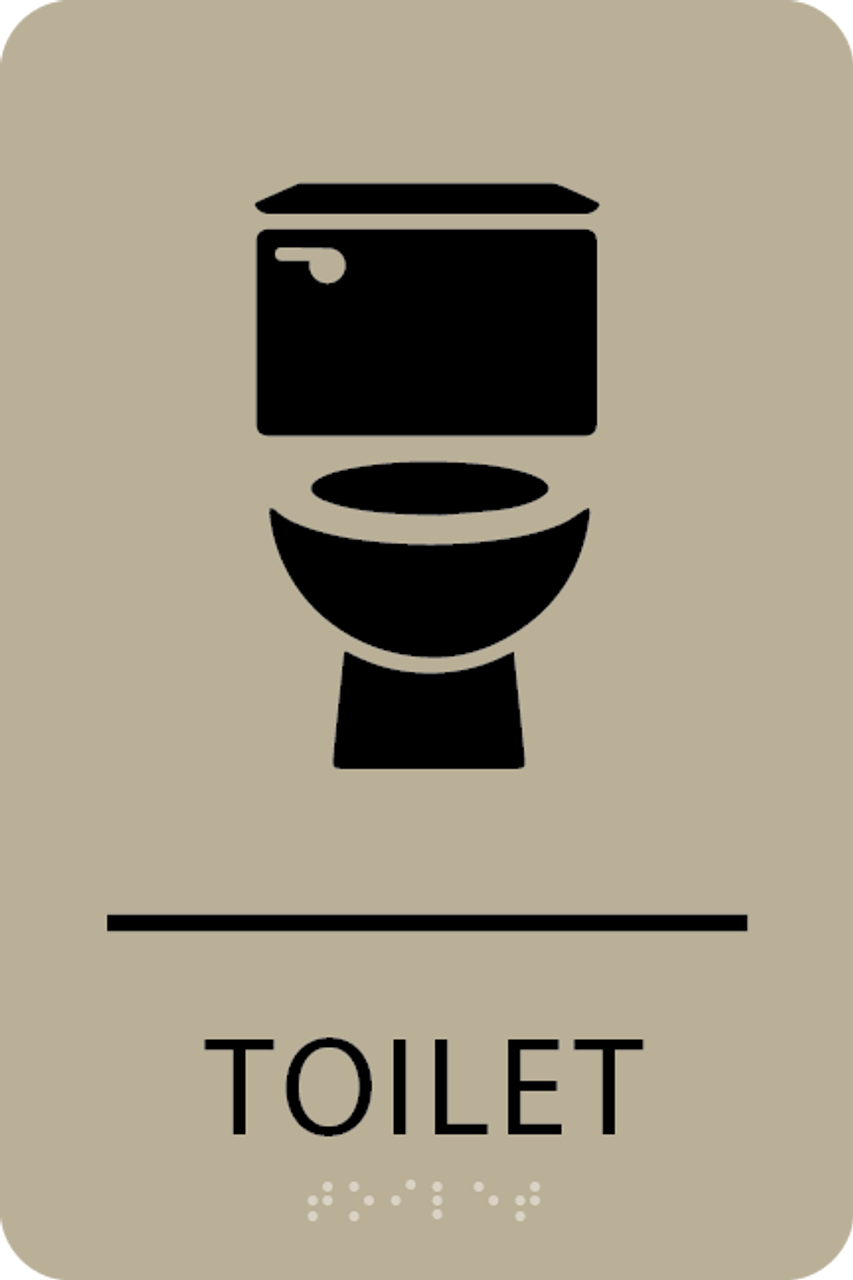 "Toilet ADA Sign - 6"" x 9"""