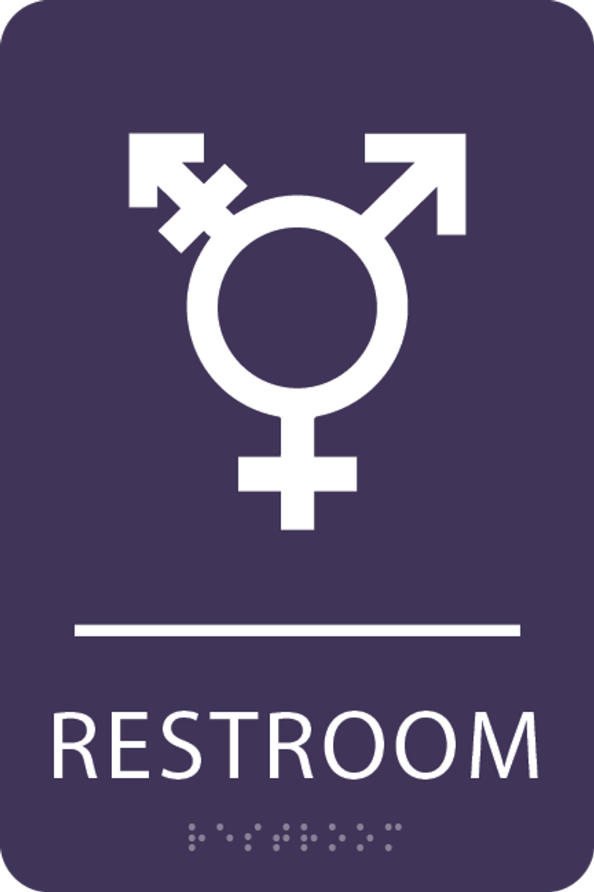 Violet Inclusive Restroom ADA Sign