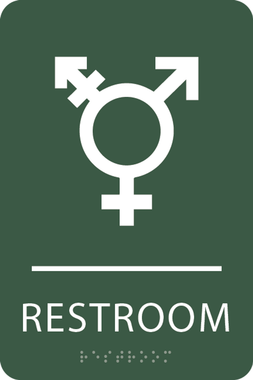 Spruce Inclusive Restroom ADA Sign