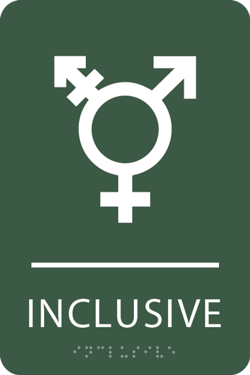 Spruce Inclusive Gender Neutral Bathroom Sign