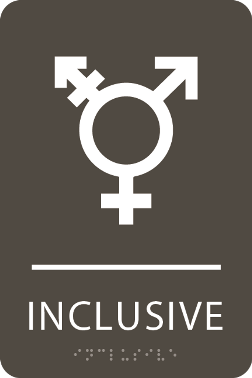 Olive Inclusive Gender Neutral Bathroom Sign
