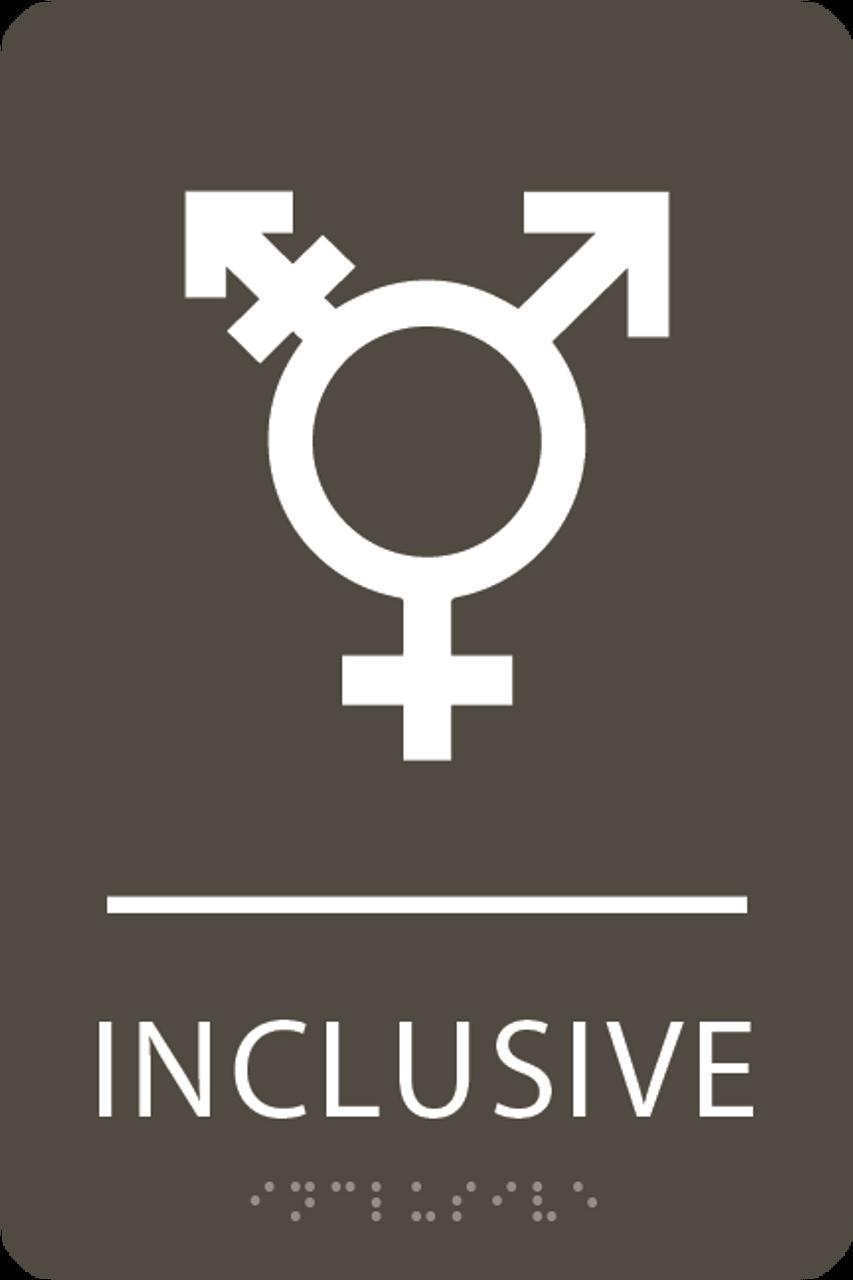 Olive Inclusive Gender Neutral Bathroom Sign