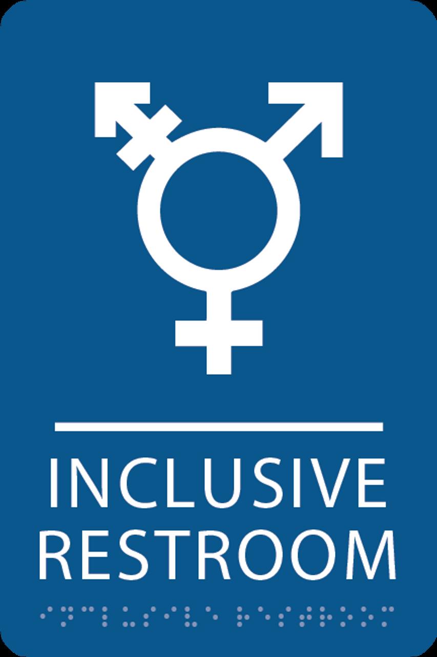 Royal Inclusive Restroom ADA Sign