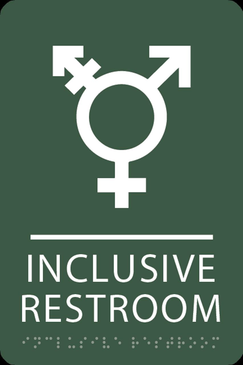 Spruce Inclusive Restroom ADA Sign