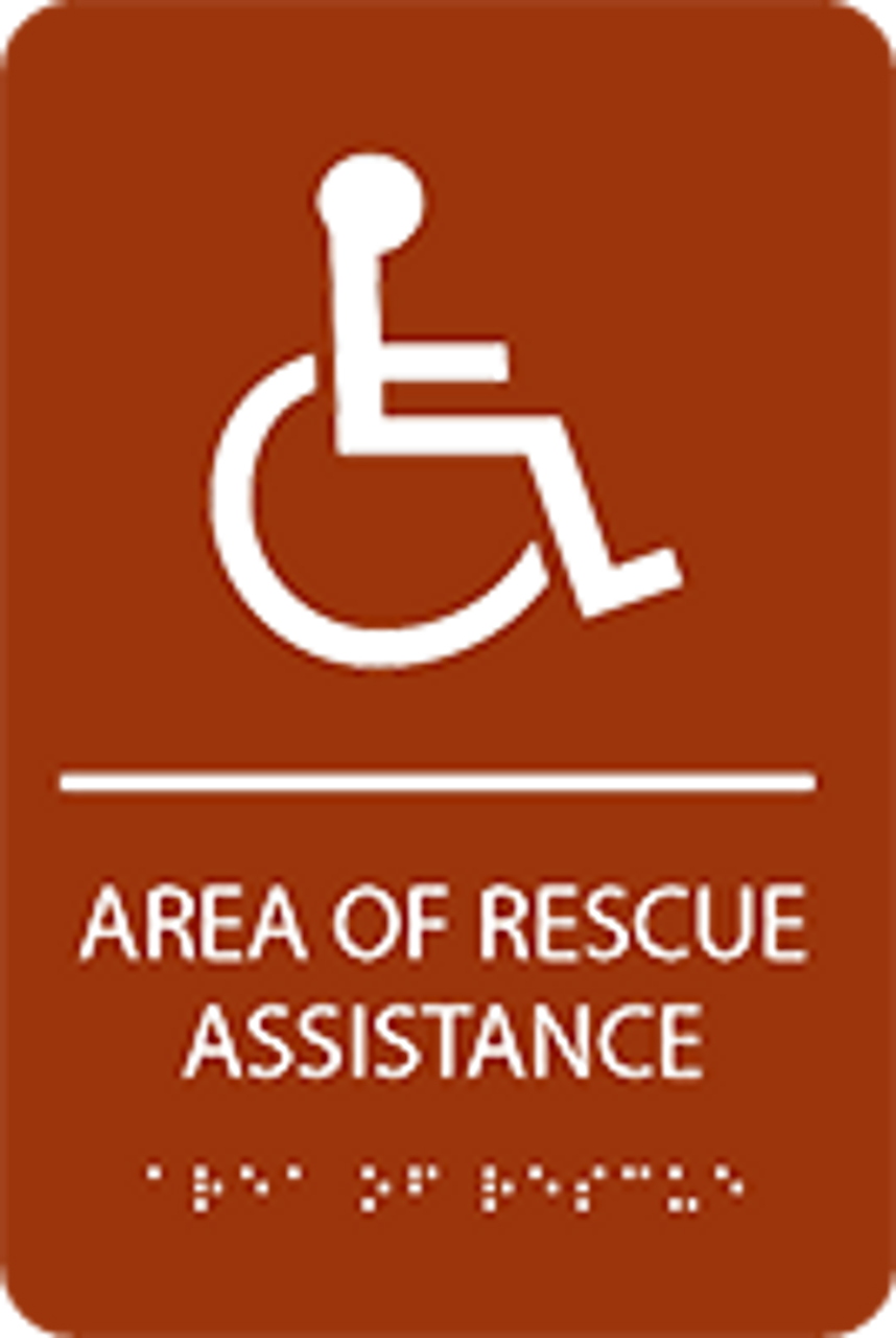 Area of Rescue Assistance ADA Sign