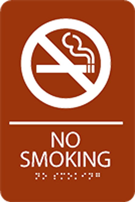 No Smoking ADA Sign