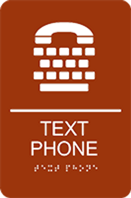 Text Phone ADA Sign