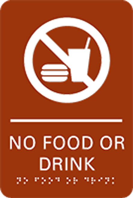 No Food or Drink ADA Sign