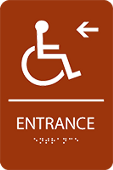 Entrance Left ADA Sign