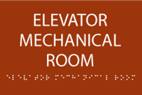 Elevator Mechanical Room ADA Sign