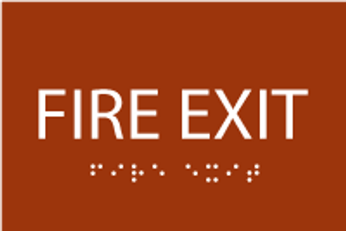 ADA Fire Exit Sign