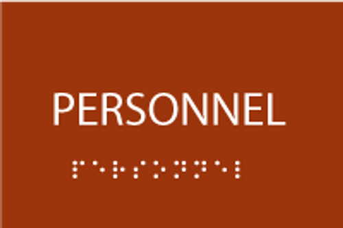 Personnel ADA Sign with Braille