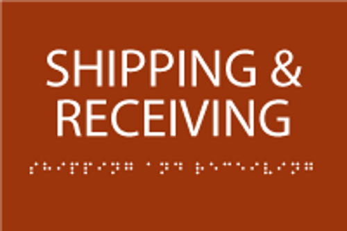 Shipping & Receiving ADA Sign